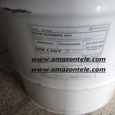 سیلیکون چکشی Tego Hammer 501 آلمانی - TEGO® Hammer 501is used for waterborne and solventborne formulations and provides a hammertone-finish effect by controlled incompatibility with the coating formulation.